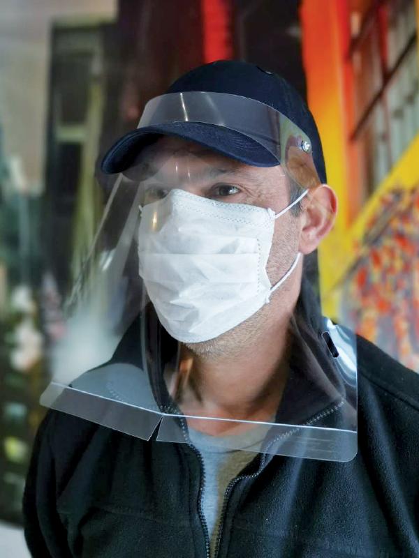 Visières de protection en polycarbonate pour casquette